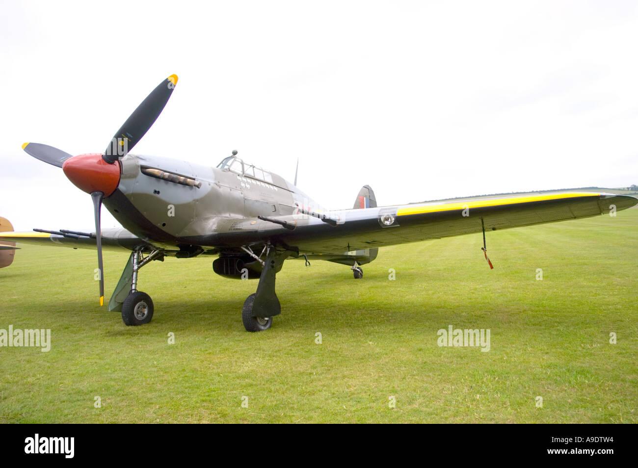 Hawker Hurricane chasseur de nuit Photo Stock