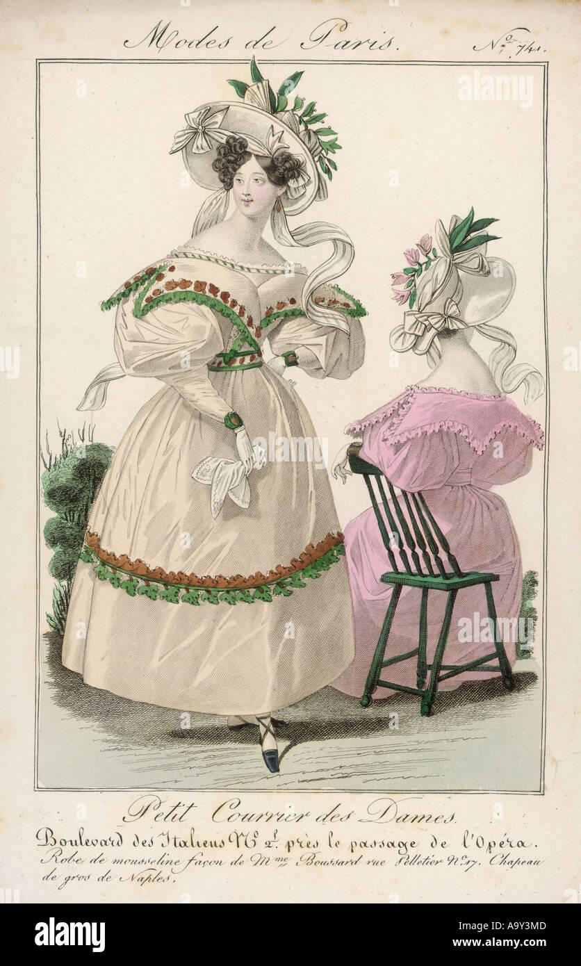 Modes de Paris 1830 Photo Stock