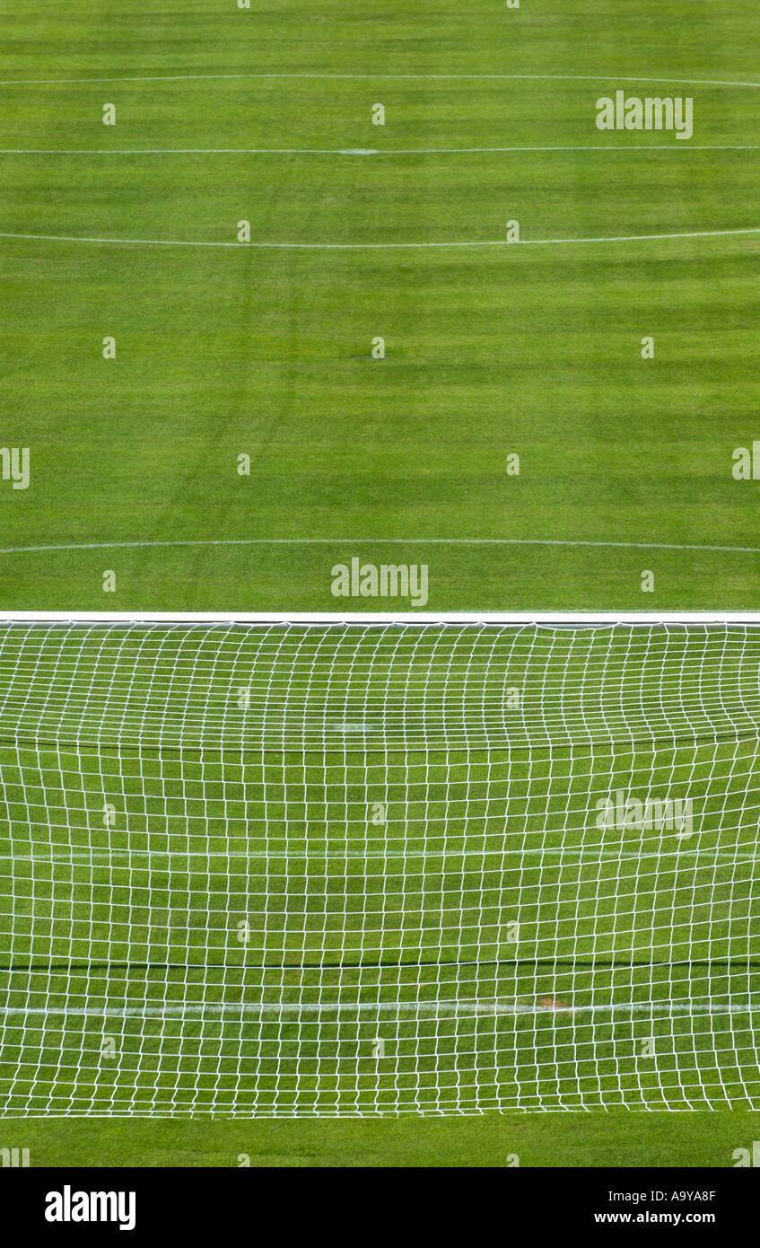 terrain de football Banque D'Images