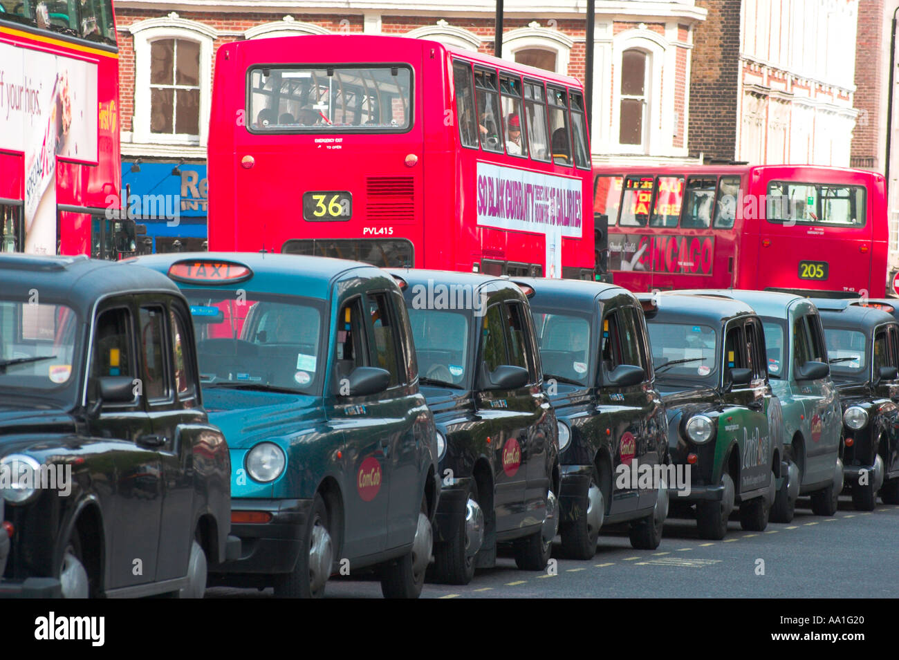 London taxi taxis taxi noir Photo Stock