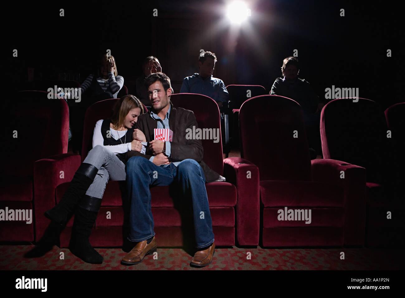 Les gens au cinéma Photo Stock