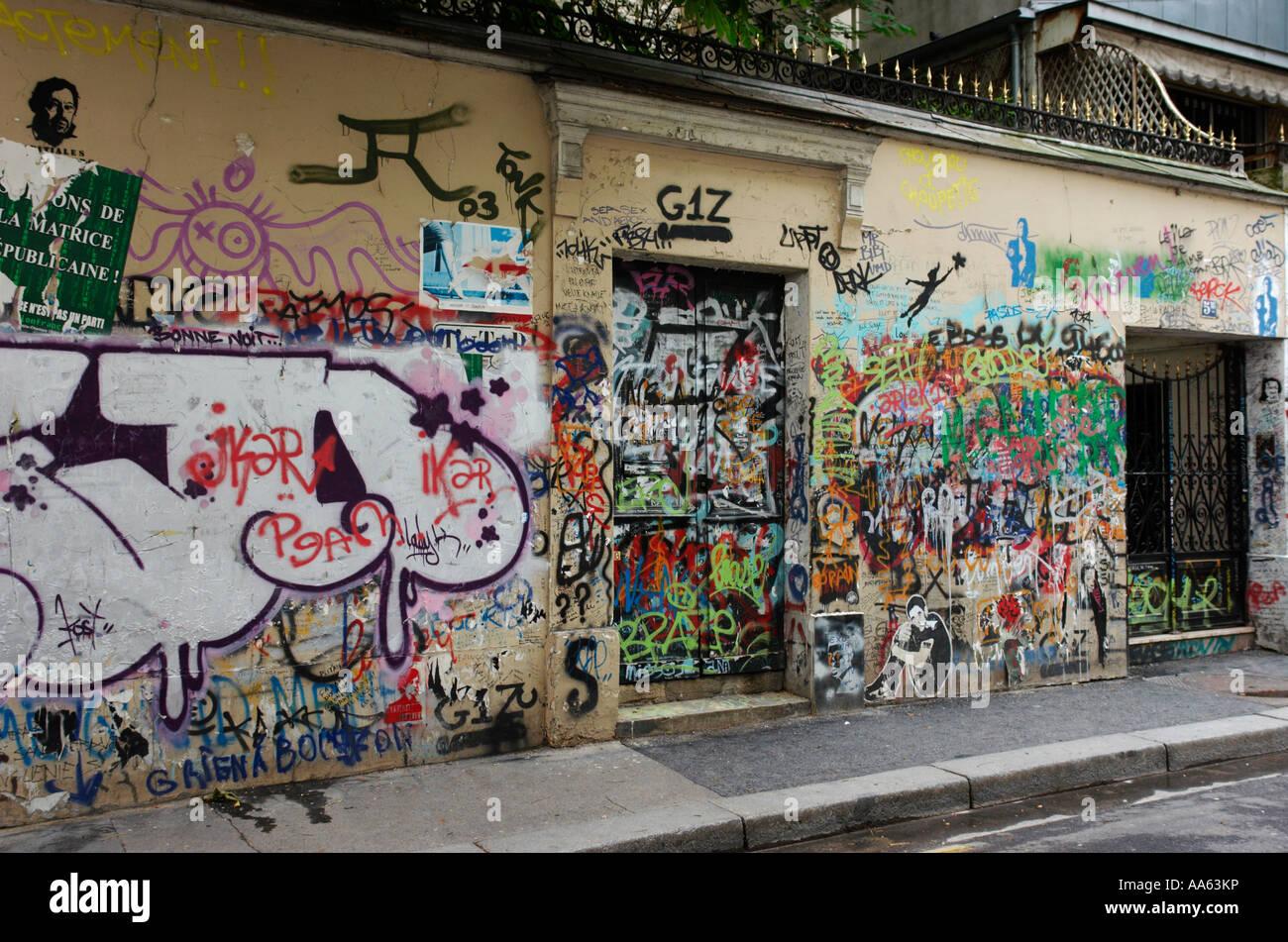 5 bis rue de verneuil ancienne maison de serge gainsbourg chanteuse française paris france