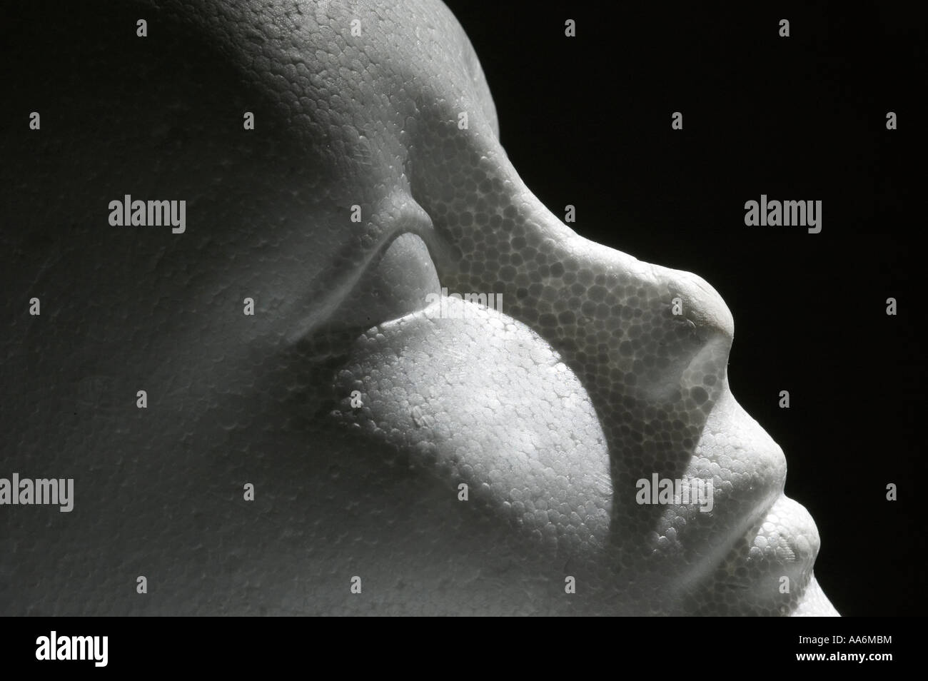un faux visage Photo Stock