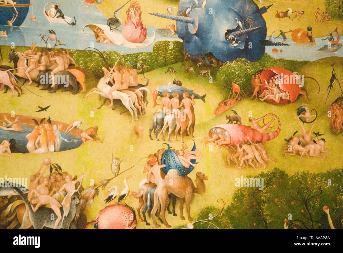 Jardin des délices de Jérôme Bosch peinture Photo Stock