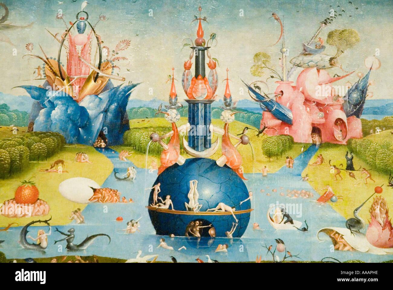 Le Jardin des délices de Jérôme Bosch peinture Banque D ...