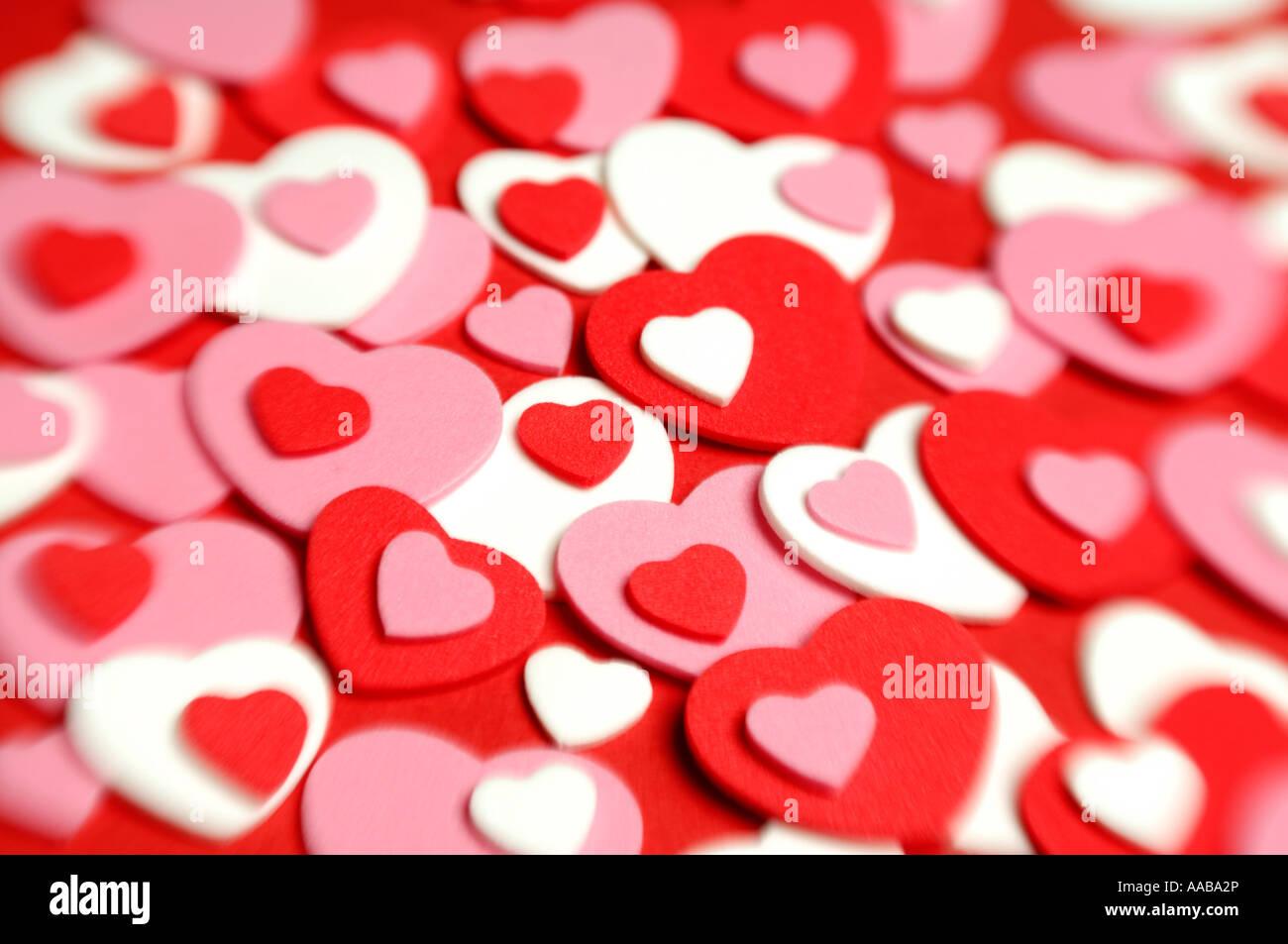 Formes de coeur Photo Stock
