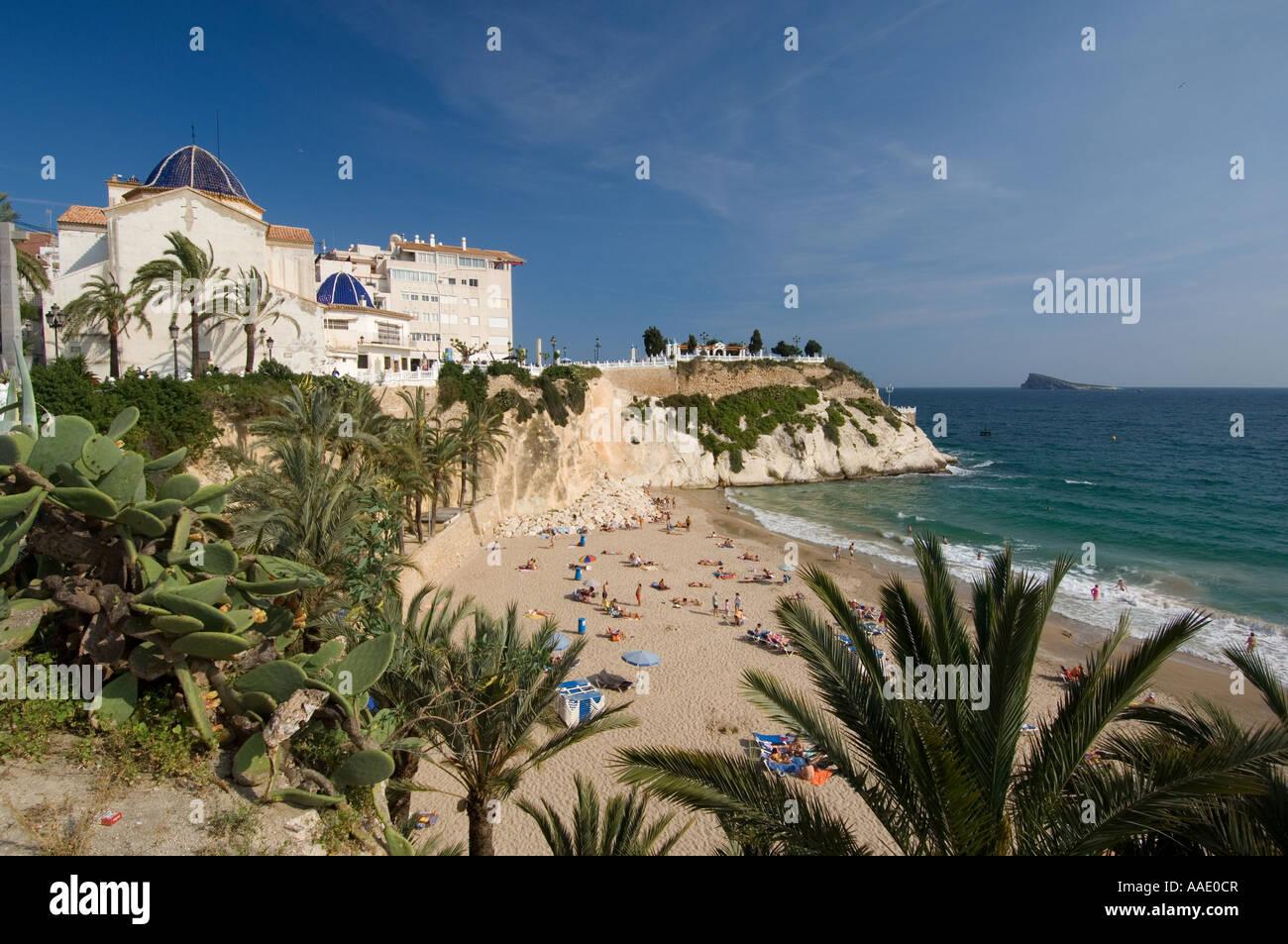 Mal Pas beach Benidorm, Costa Blanca, Espagne Photo Stock