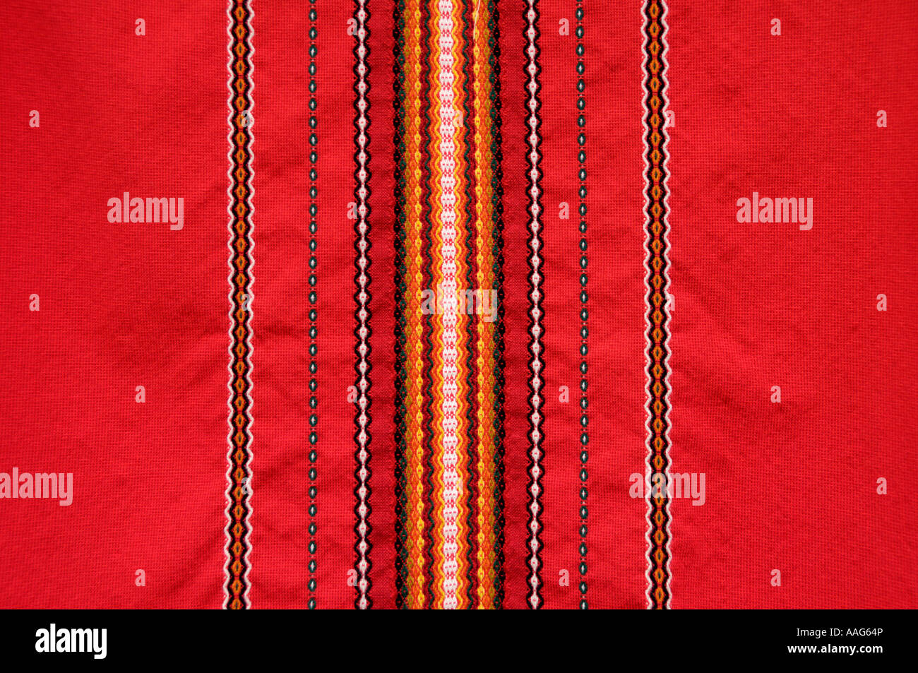 Motif textile bulgare typique est de l'Europe Photo Stock