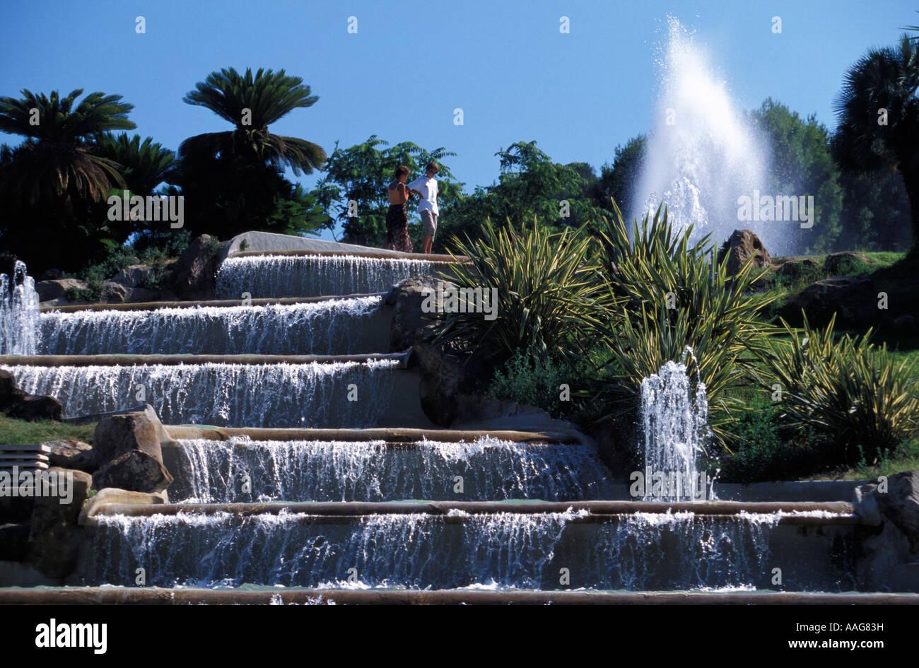 Jardins del Mirador Montjuic Barcelone Catalogne Espagne Banque D'Images