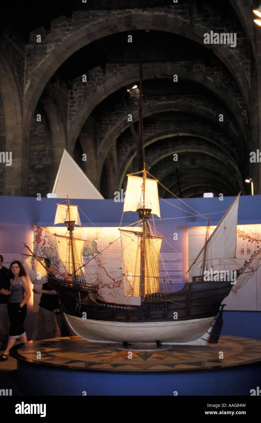 La pièce Maritime Museum Barcelona La Catalogne Espagne Banque D'Images