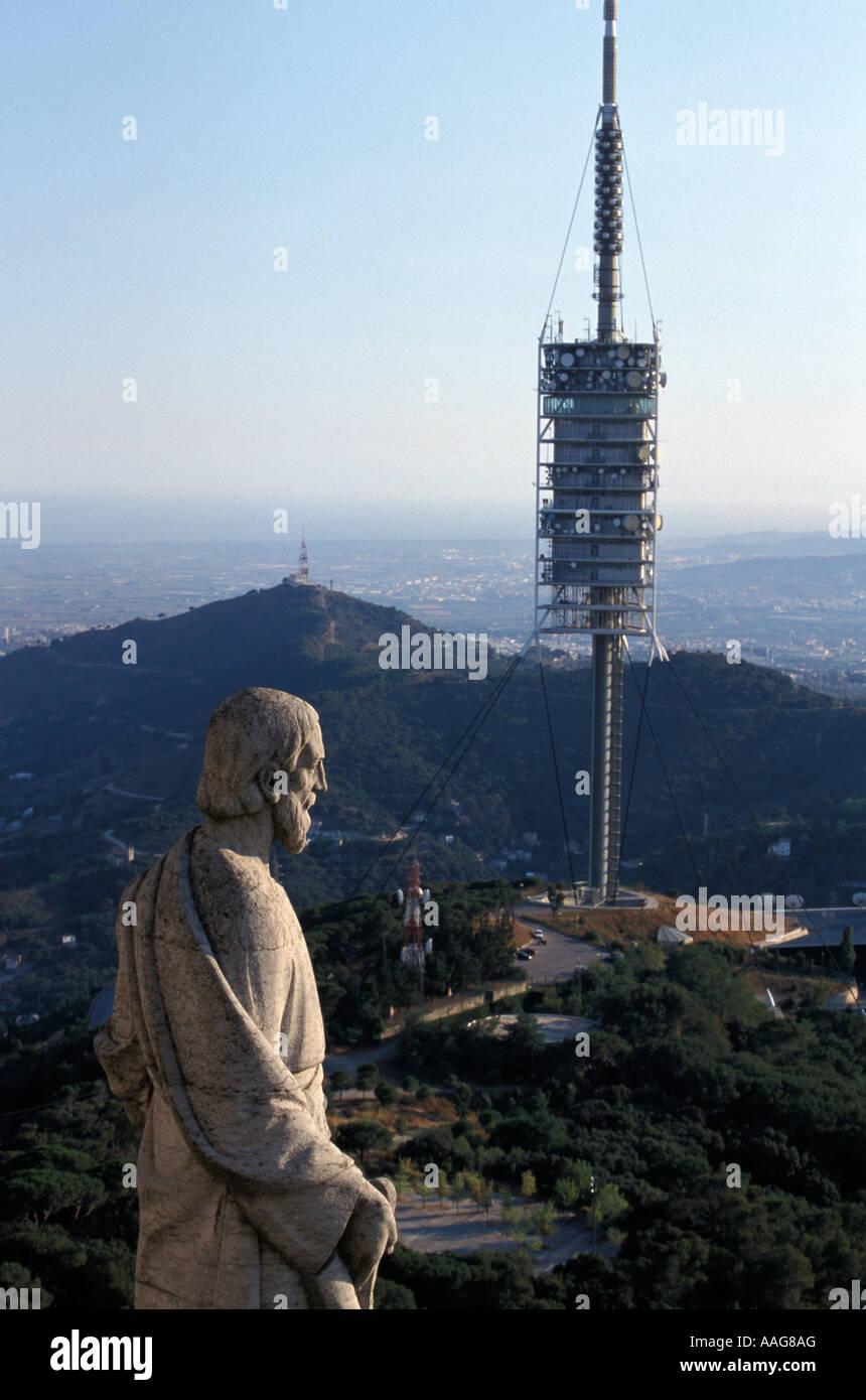 Torre de Collserola conçu par Norman Foster Tibidabo Barcelone Catalogne Espagne Banque D'Images