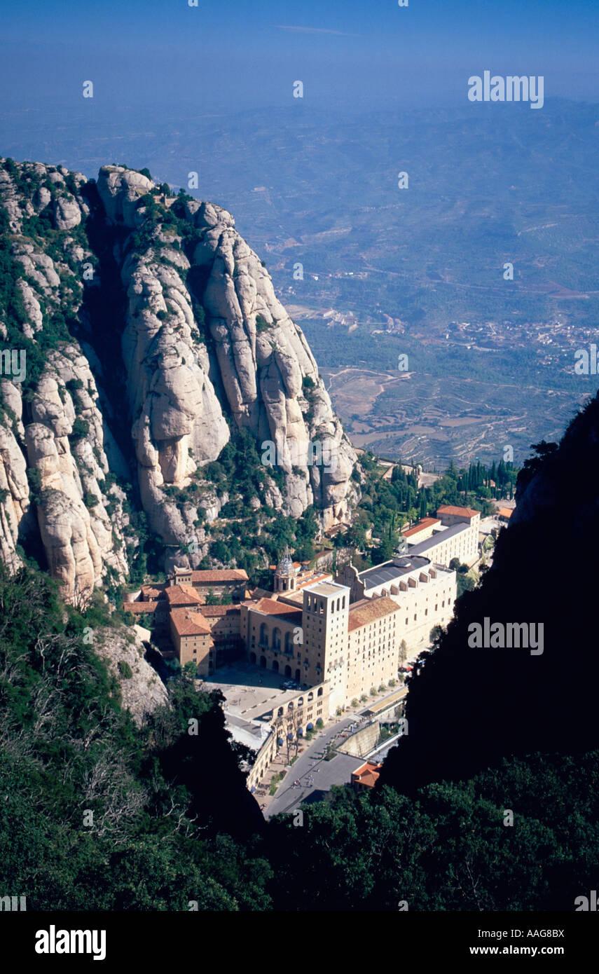 Monastère de Montserrat Montserrat Barcelone Catalogne Espagne Montagnes Banque D'Images