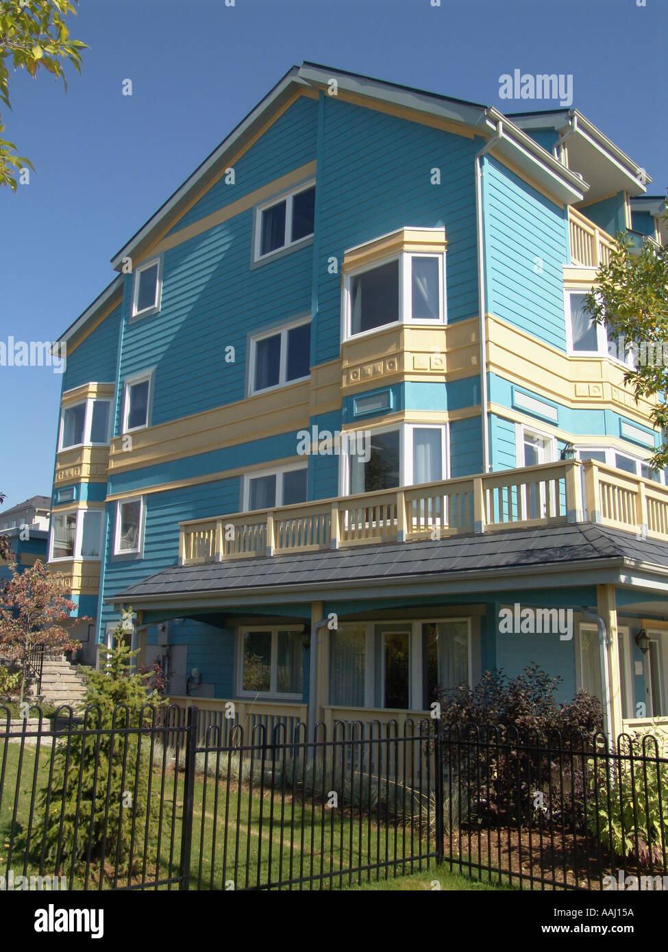 San Francisco inspiré des nouvelles maisons en matériaux composites d'architecture Toronto Canada Banque D'Images