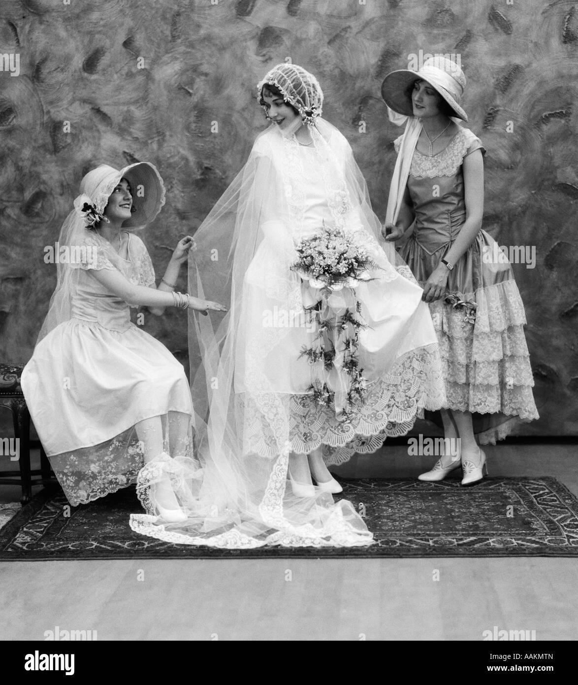 1900 Années 1910 mariée avec l'un de chaque