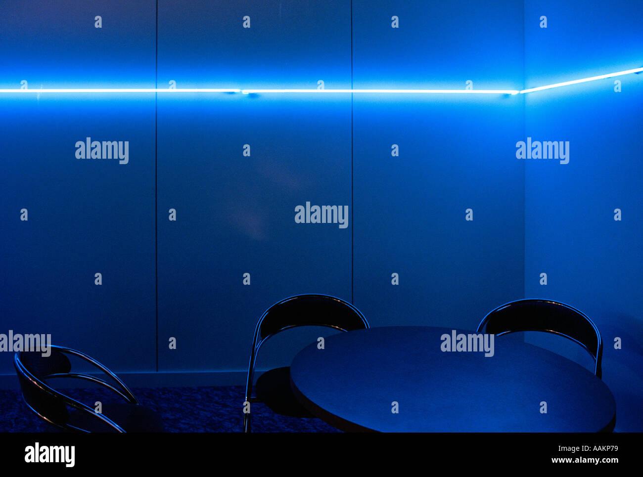 Chambre bleue vide Photo Stock