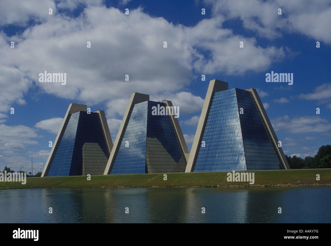 Pyramides À COLLEGE PARK ÉDIFICES DANS INDIANAPOLIS Photo Stock