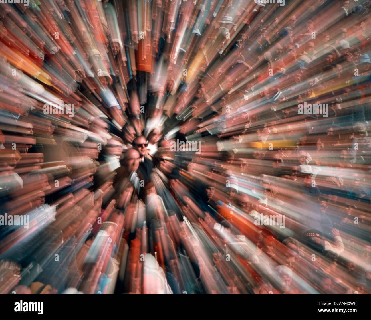 Étrange foule HORS FOCUS DYNAMIC Photo Stock