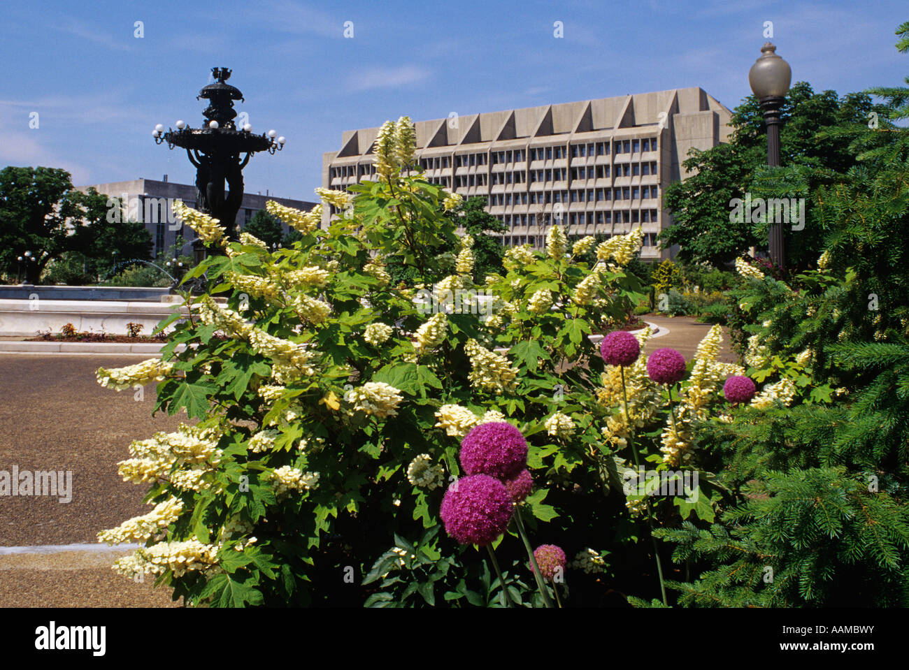WASHINGTON DC EN FONTAINE BARTHOLDI BARTHOLDI PARK Botanic Garden Photo Stock