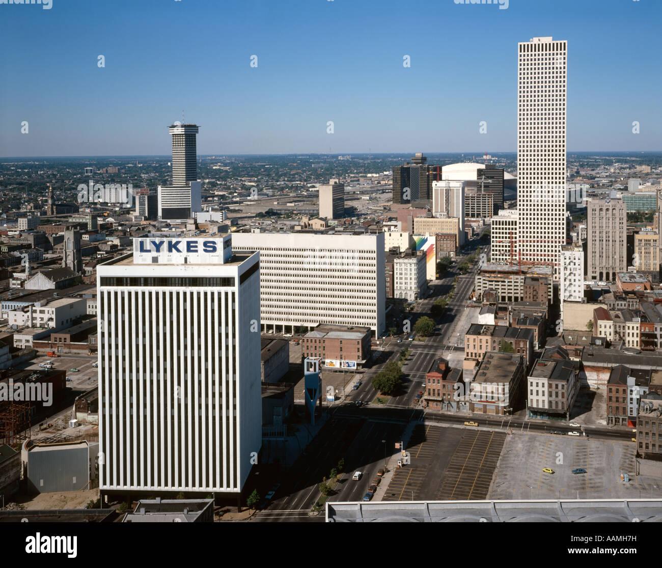 La Nouvelle Orléans en Louisiane CITYSCAPE Poydras Street Photo Stock