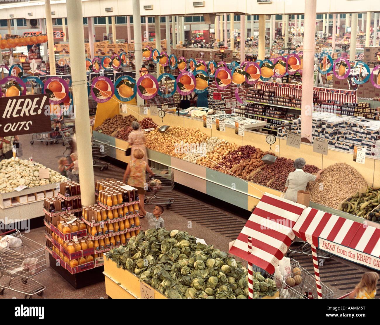 1960 1960 SCHOEGMANNS SUPERMARCHÉ RÉTRO NEW ORLEANS LOUISIANE Photo Stock