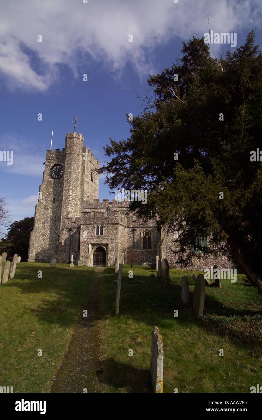 L'église St Mary diocèse de Canterbury dans le 15e siècle l'attrayant village de Chilham Angleterre Kent Banque D'Images