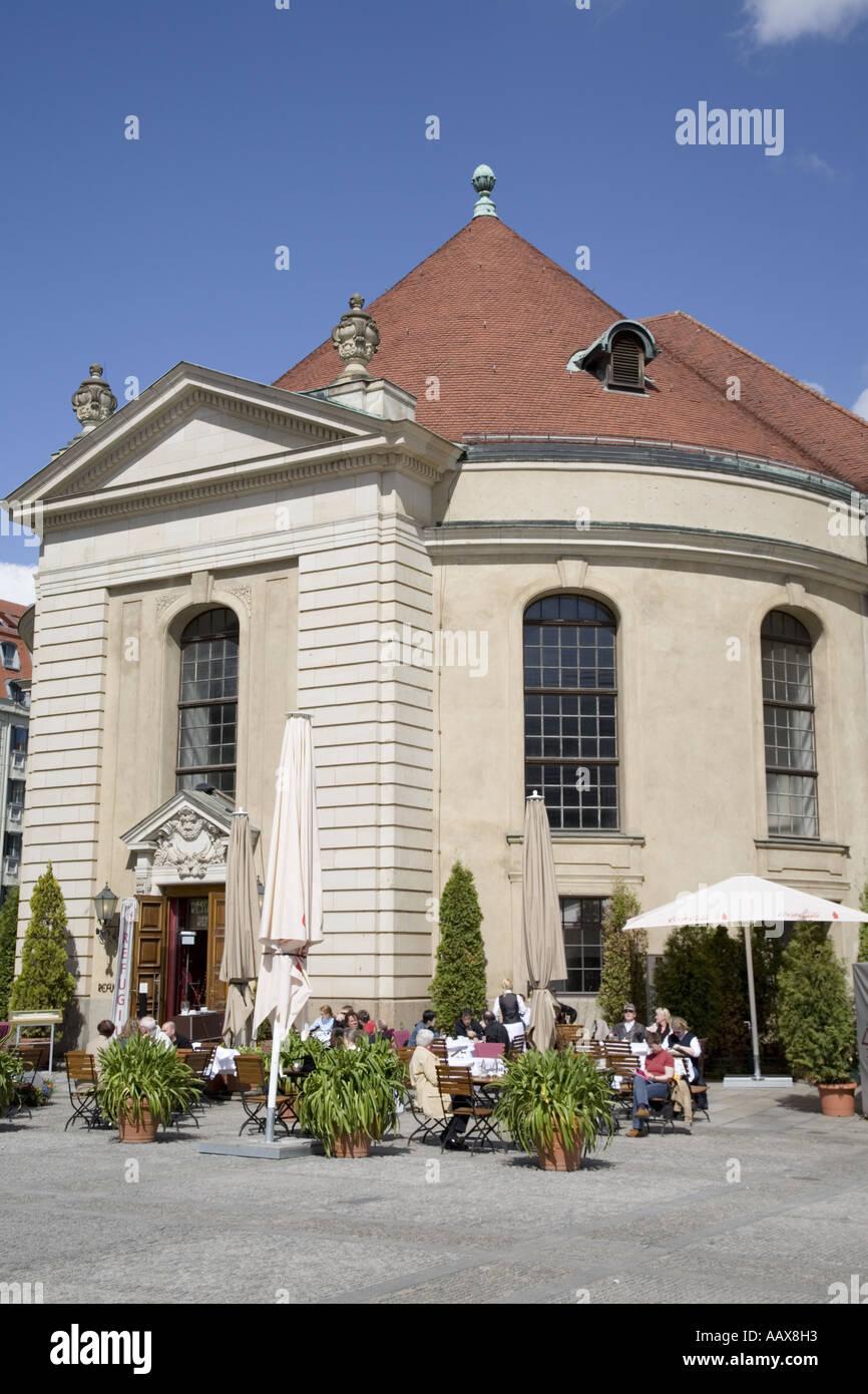 Restaurant le refuge, Gendarmenmarkt Berlin Allemagne Banque D'Images