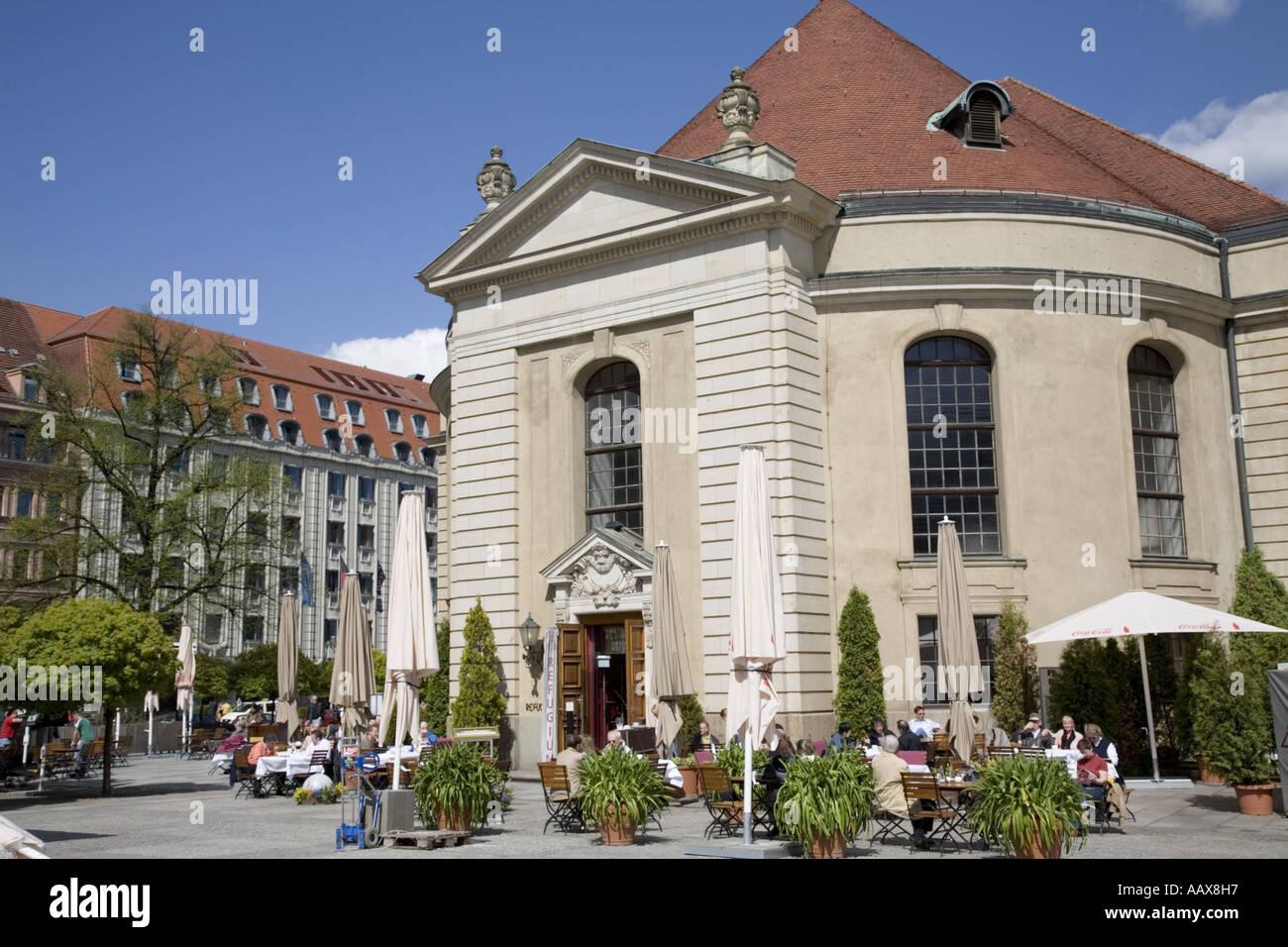 Restaurant le refuge, Gendarmenmarkt, Berlin, Allemagne Banque D'Images