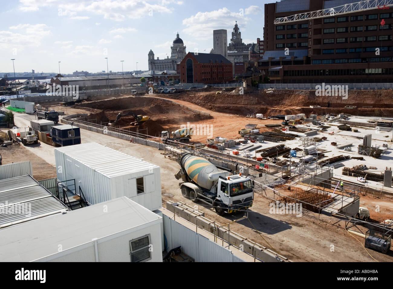 Site de construction urbaine - un projet de régénération du centre-ville, UK Photo Stock