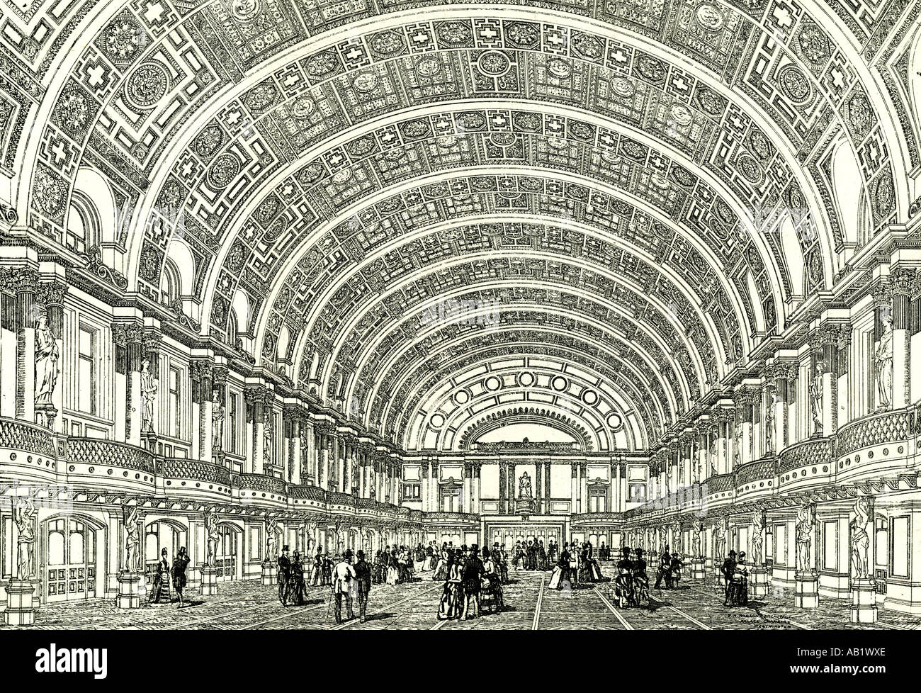 Les gens s Palace Londres U K 1887 La Reine s hall ouvre par Sa Majesté Londres Photo Stock