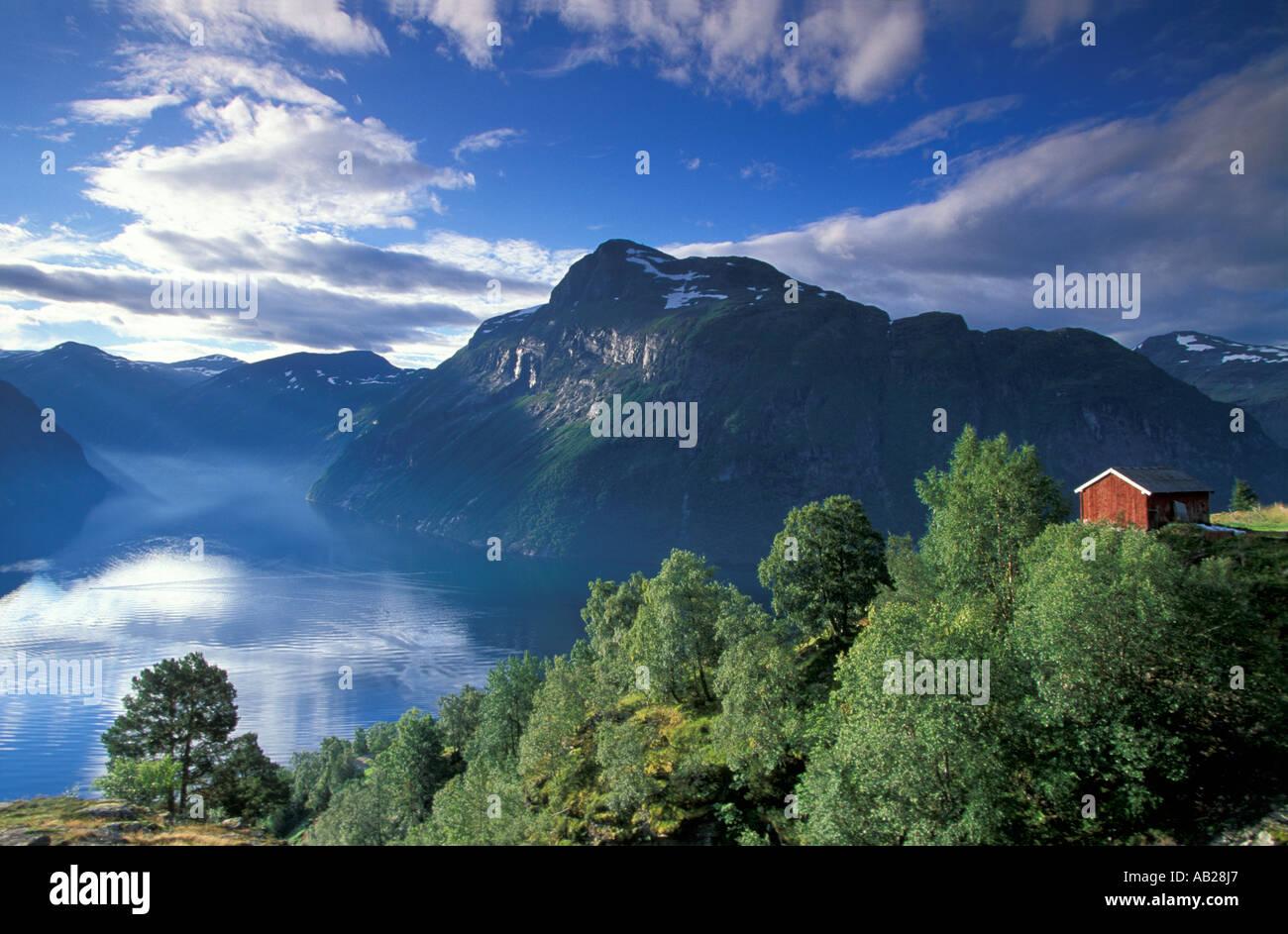 Fjord de Geiranger, Norvège Photo Stock