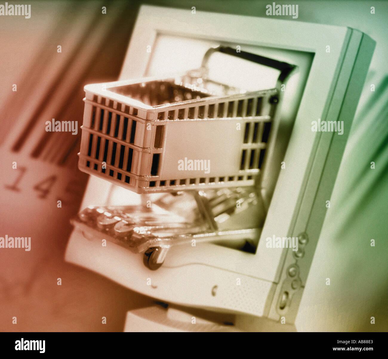 Des achats en ligne Photo Stock