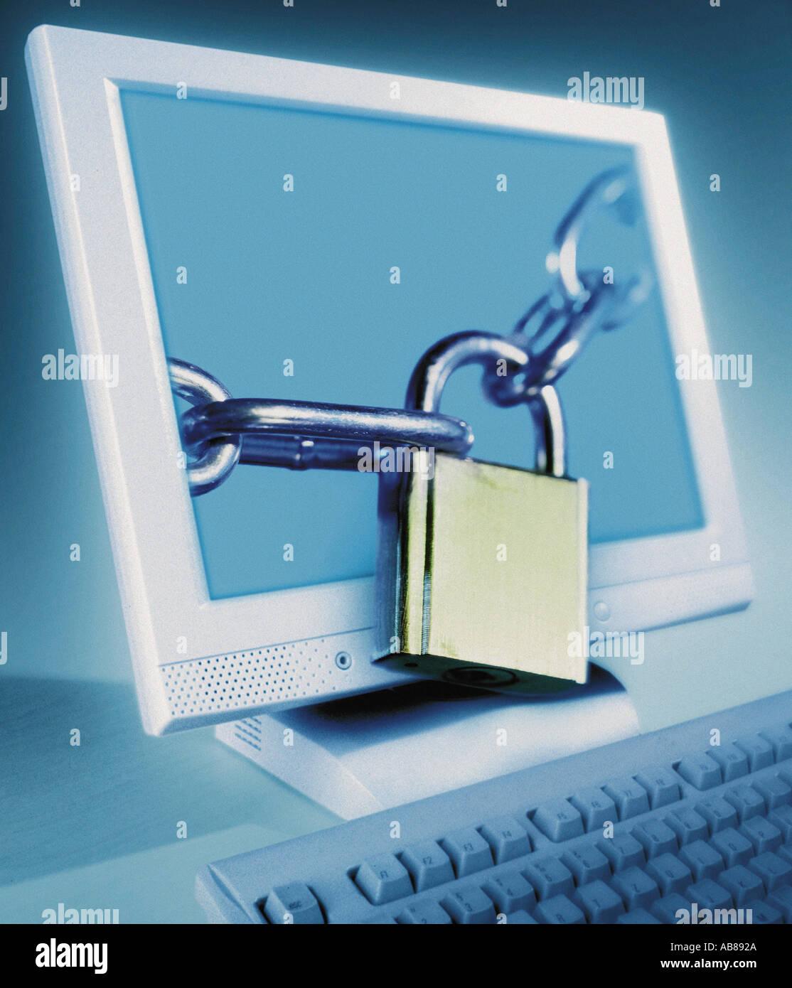 Sécurité électronique Photo Stock