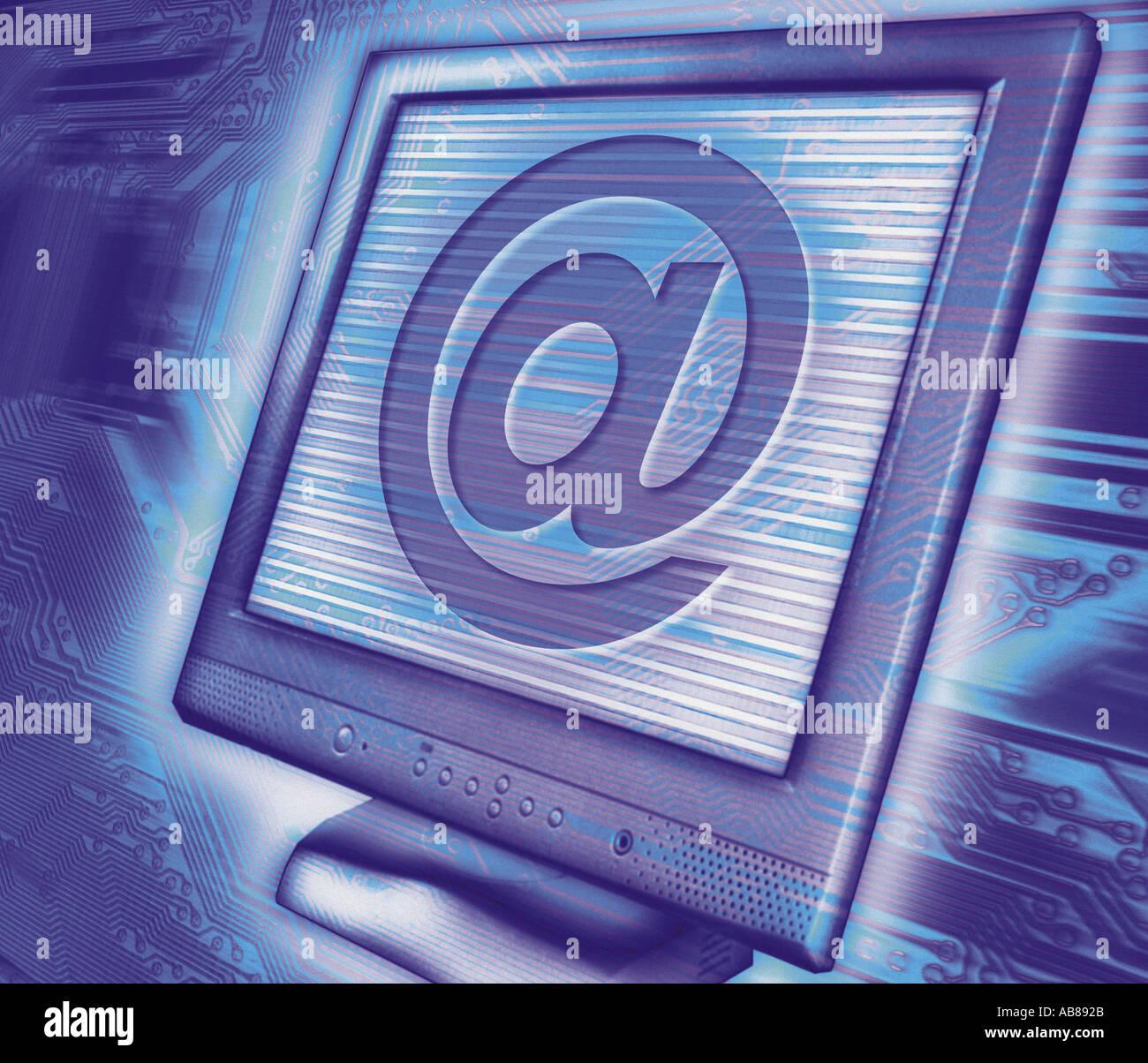 L'information électronique Photo Stock