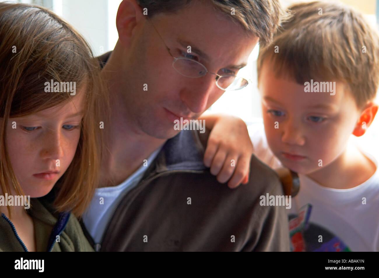Temps de lecture en famille Photo Stock