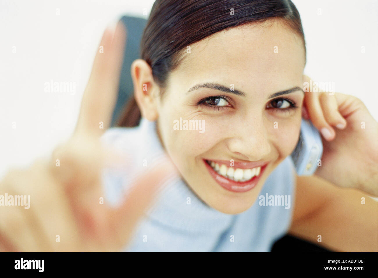 Businesswoman using cell phone Photo Stock