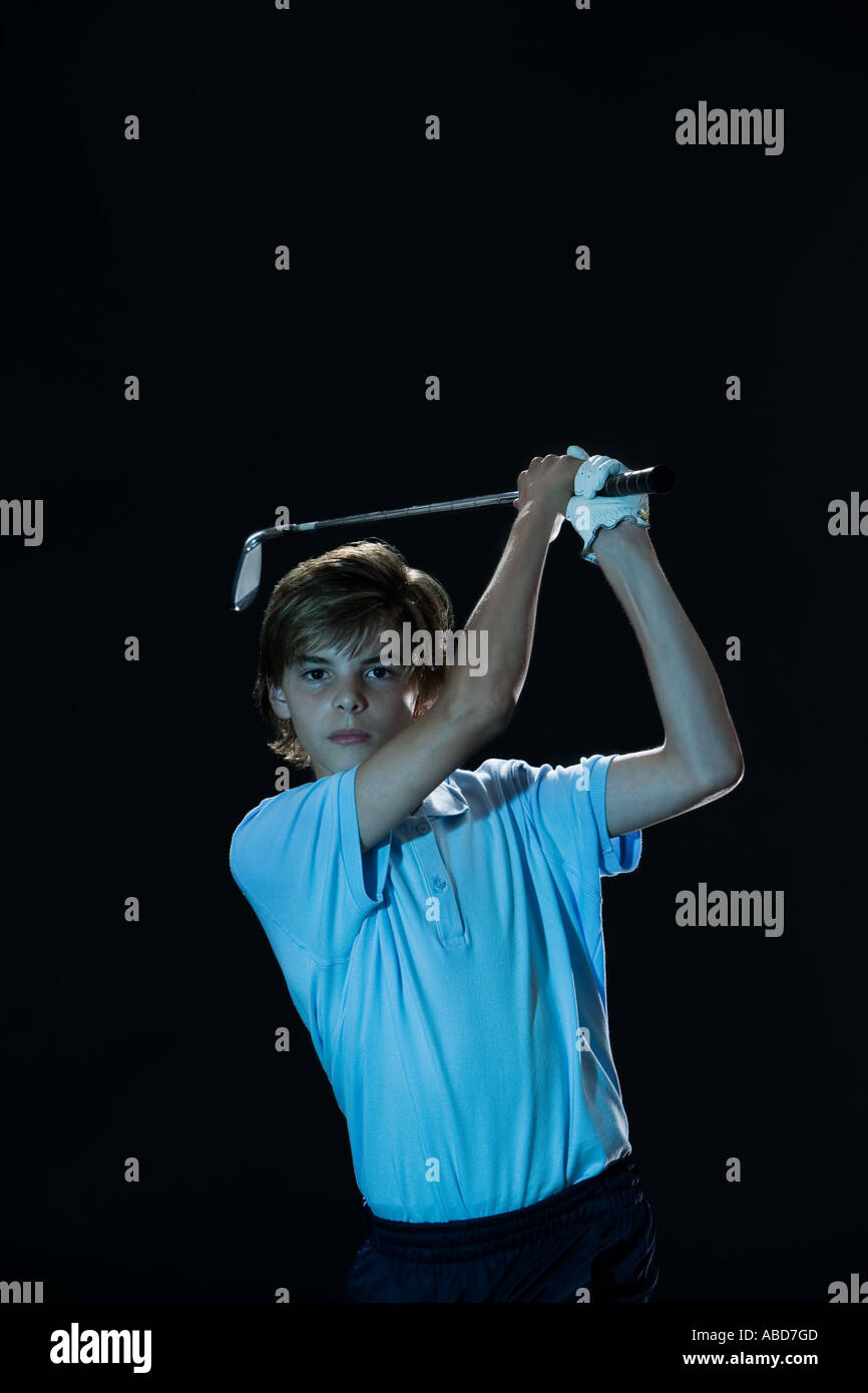 Golfeur junior Photo Stock