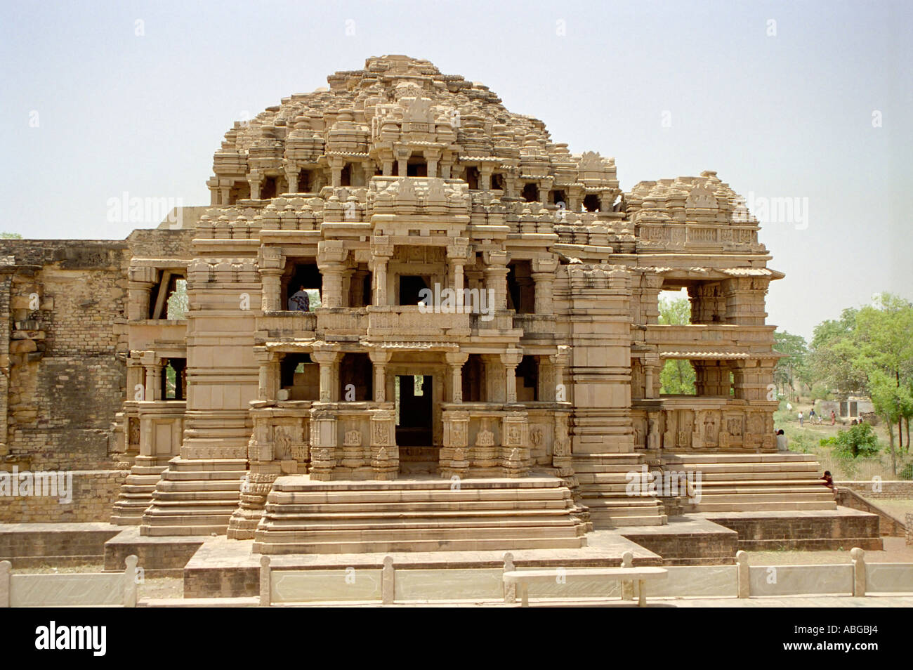 Jain Temple Au Fort De Gwalior Dans Le Madhya Pradesh Inde Du Nord