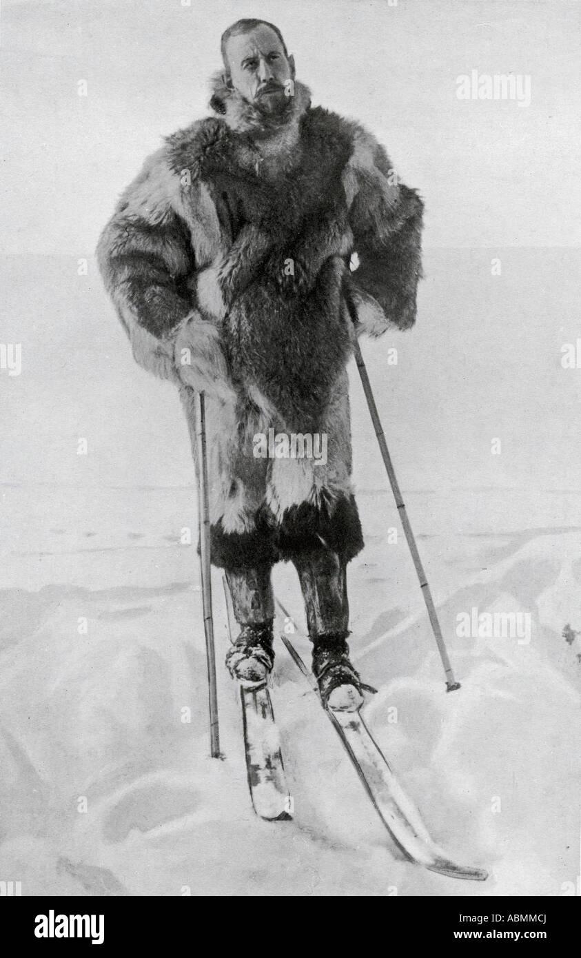 Le capitaine Roald Engelbregt Gravning Amundsen de 1872 à 1928 l'explorateur norvégien des régions polaires Banque D'Images