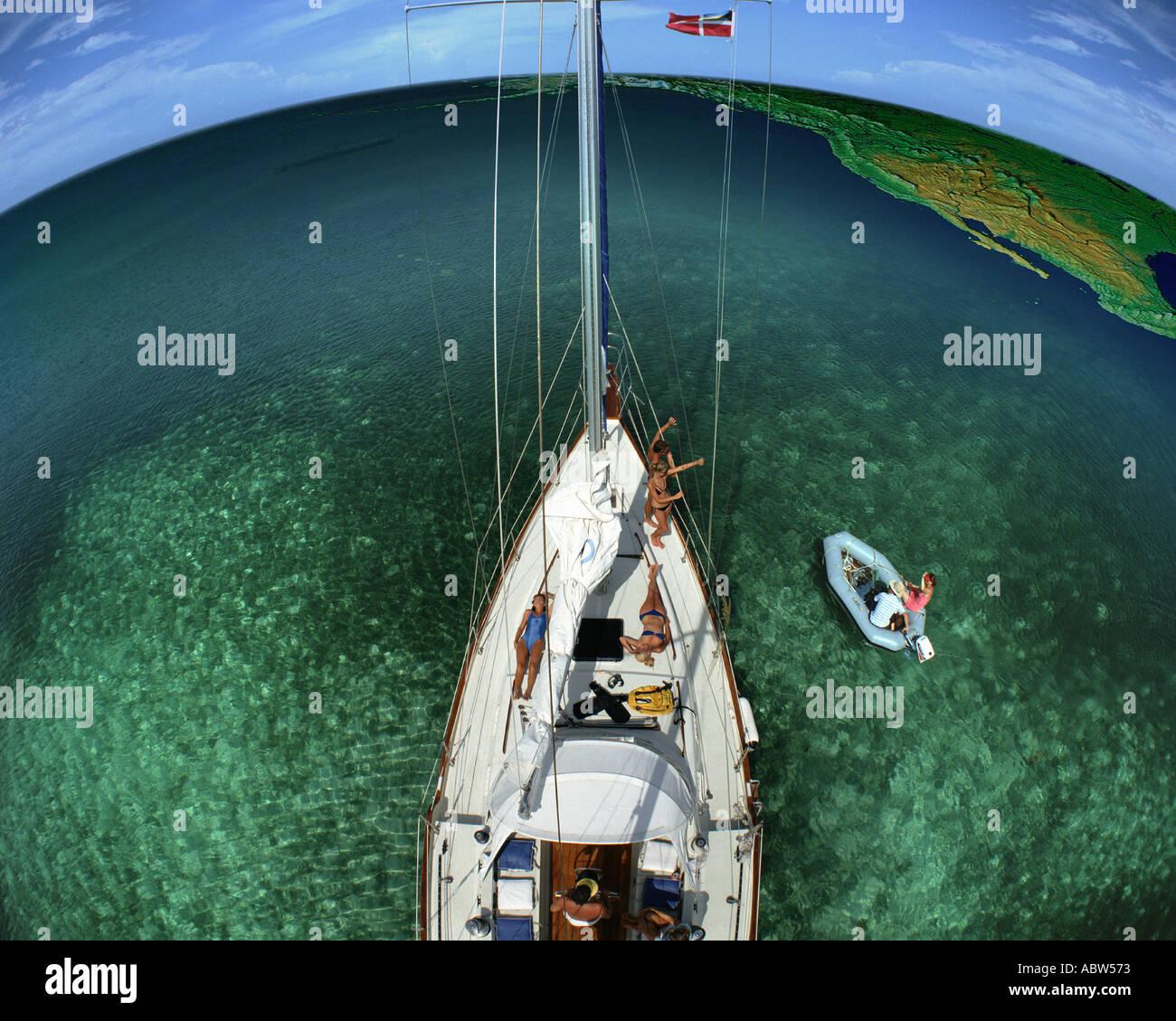 BH - Les BAHAMAS: voile le monde Photo Stock