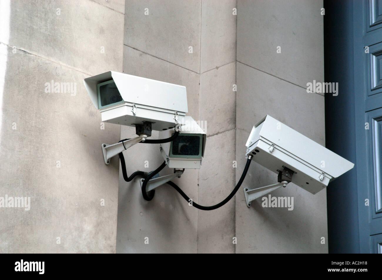 Caméras de sécurité CCTV London England UK Photo Stock