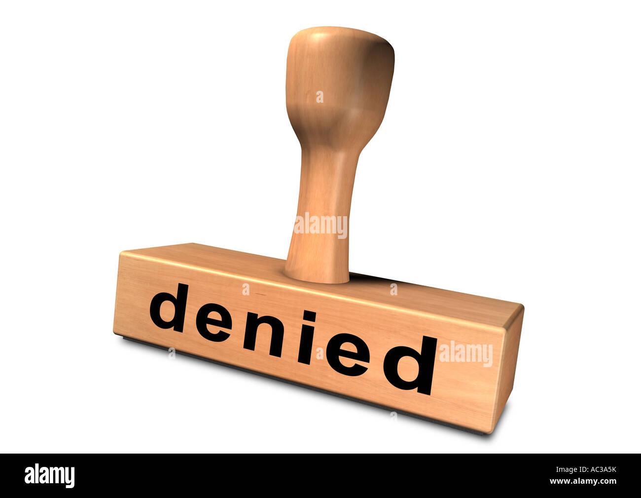 Stamp chop indenteur base punch pénétrateur Stempel refusé Banque D'Images