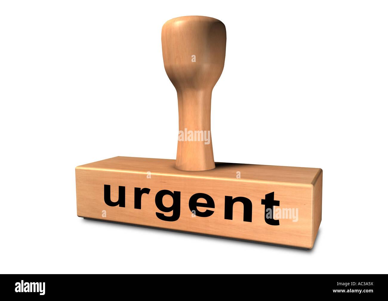 Stamp chop indenteur base punch pénétrateur Stempel urgent Banque D'Images