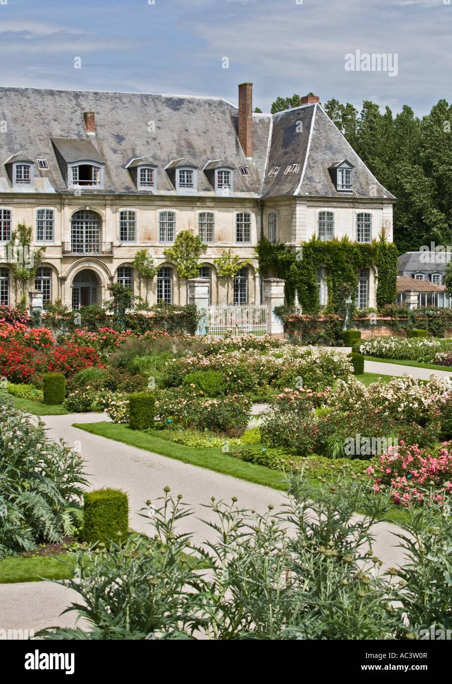L'Abbaye et les Jardins de Valloires en france ue Banque D'Images