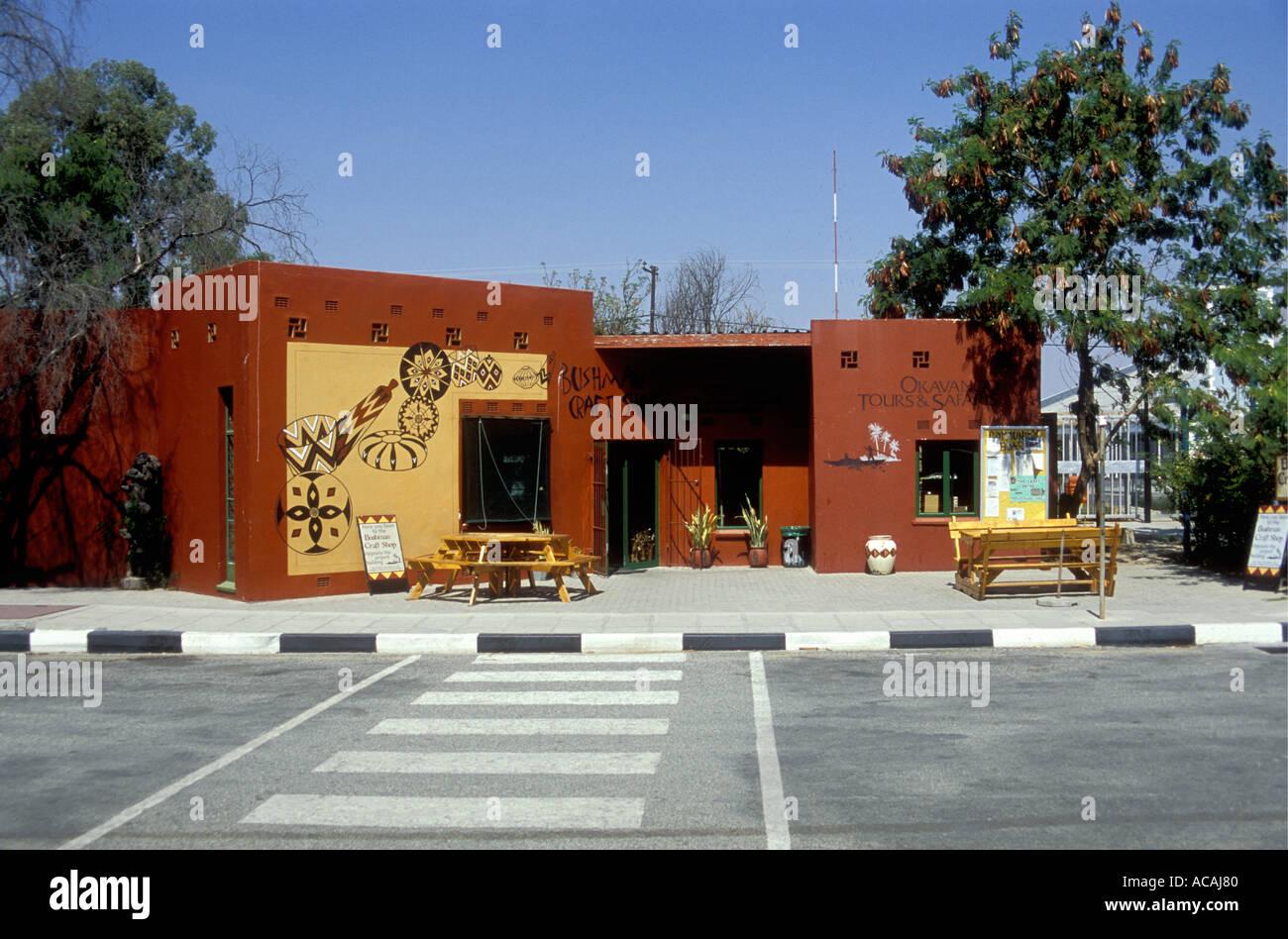 Boutique touristique et agence de voyage près de l'aéroport Maun Botswana Afrique du Sud Photo Stock