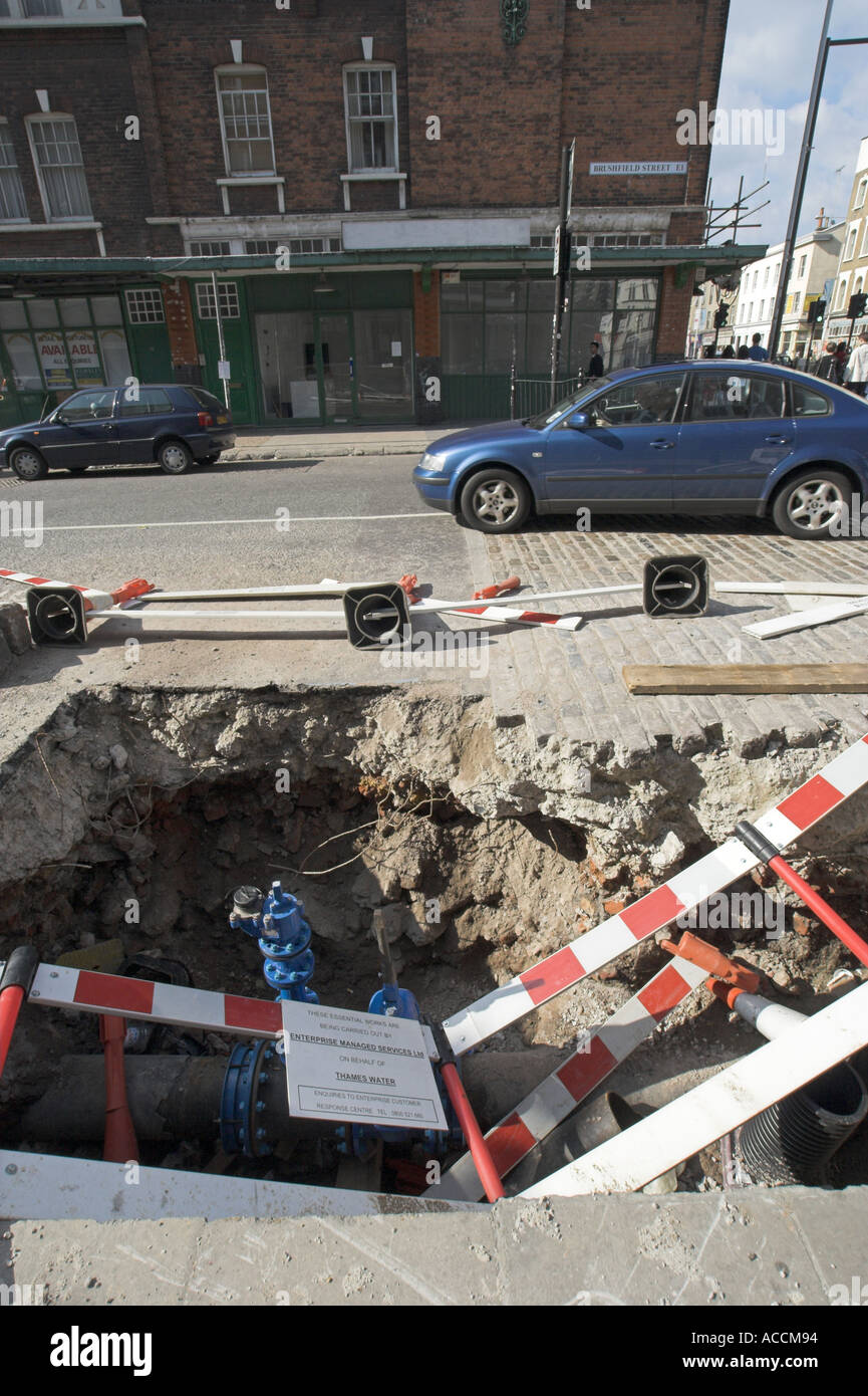 London Road works réparations street Photo Stock