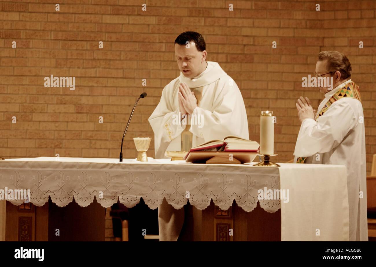 Un service à l'église Photo Stock