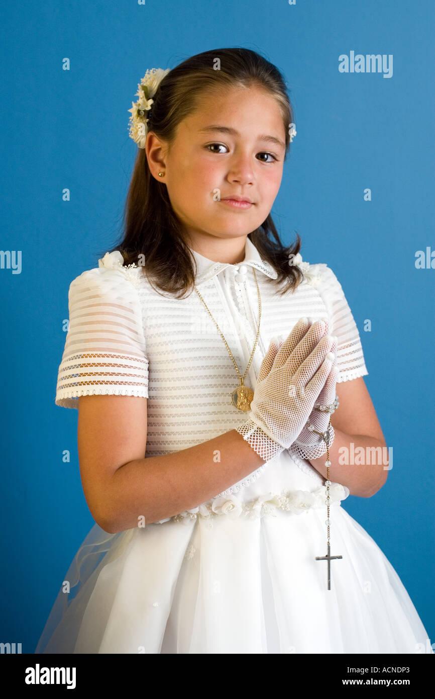 9 ans Première Sainte Communion Fleur Robe