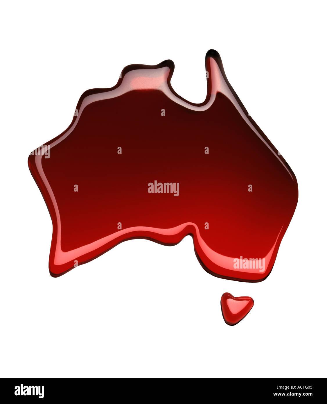 Vin rouge Vin Carte d'Australie Australie Photo Stock