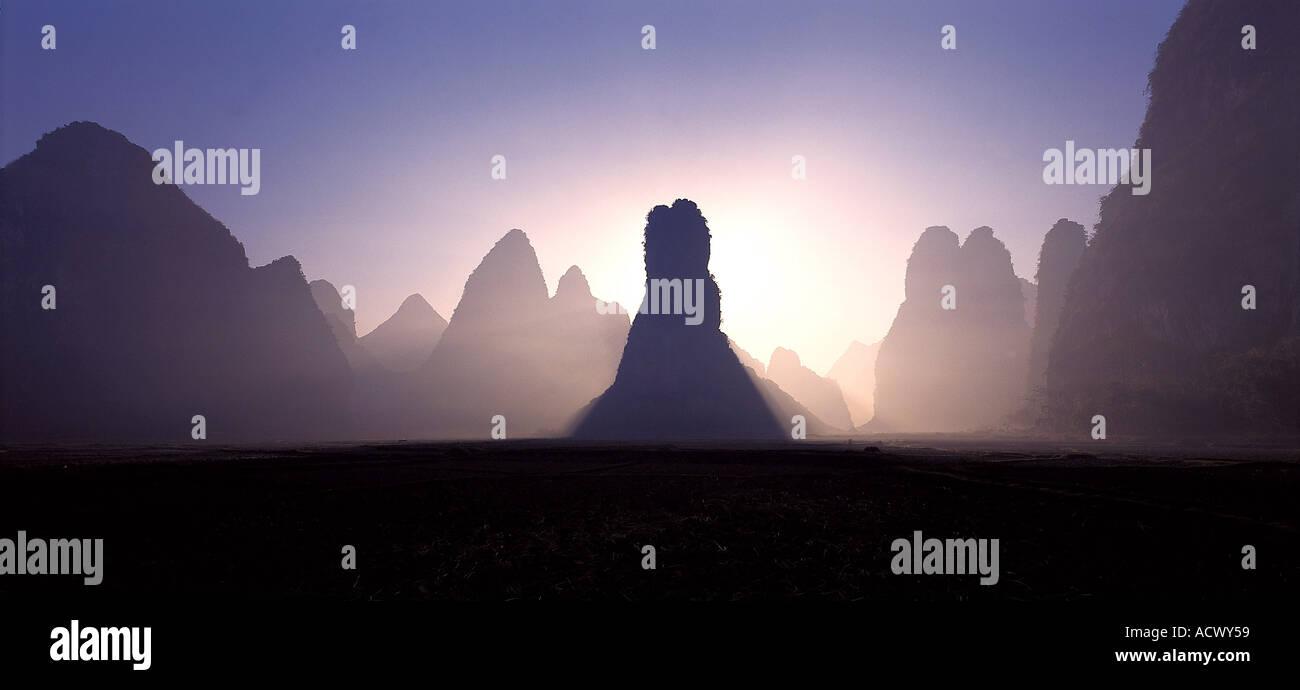 Yangsu Guilin Chine Banque D'Images