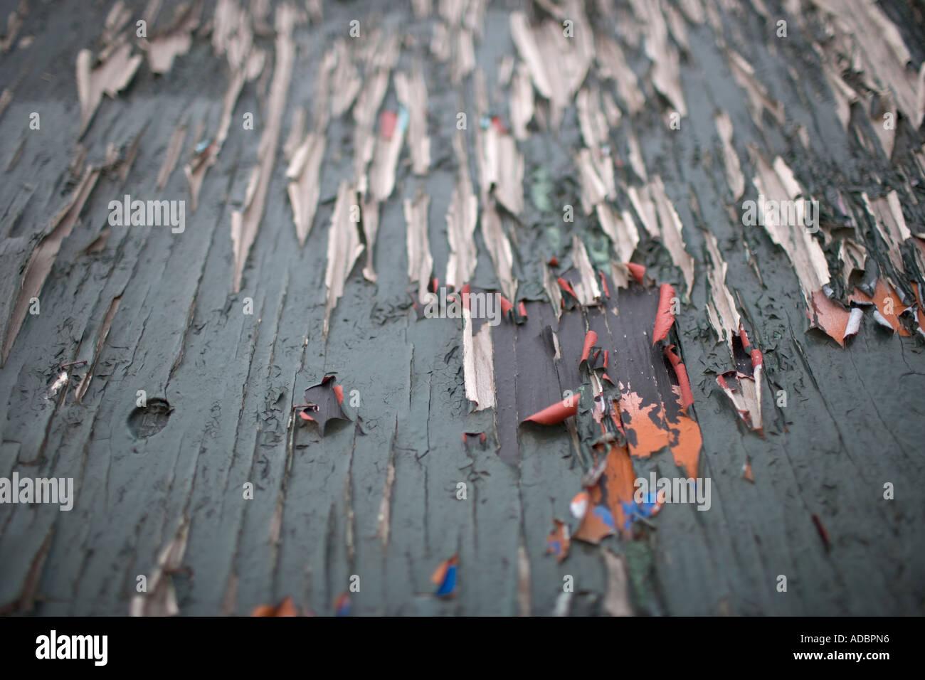 Peeling peinture couleur textures étude decay Photo Stock